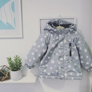 👧🏻👦🏻Like new H&M hooded puffer jacket 12-18mo